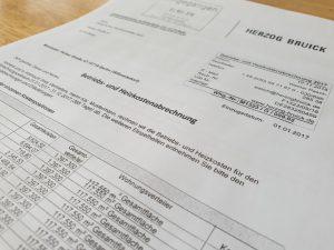 Betriebskostenabrechnung in der Gewerbemiete prüfen